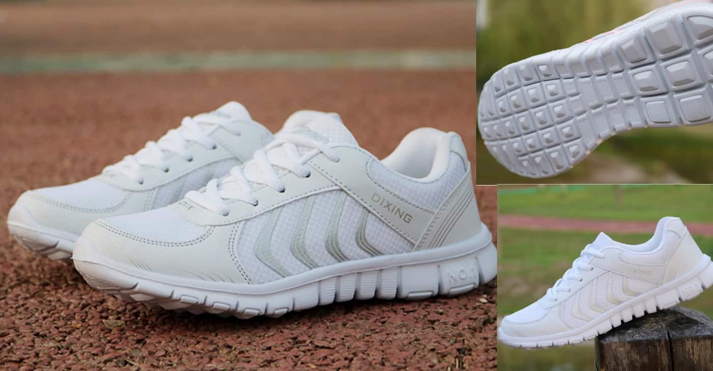 Дешеві білі жіночі кросівки - цікава модель від KUIDFAR