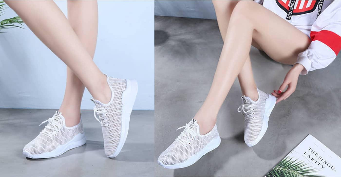 Сучасна модель дешевих жіночих білих кросівок від ALL YIXIE