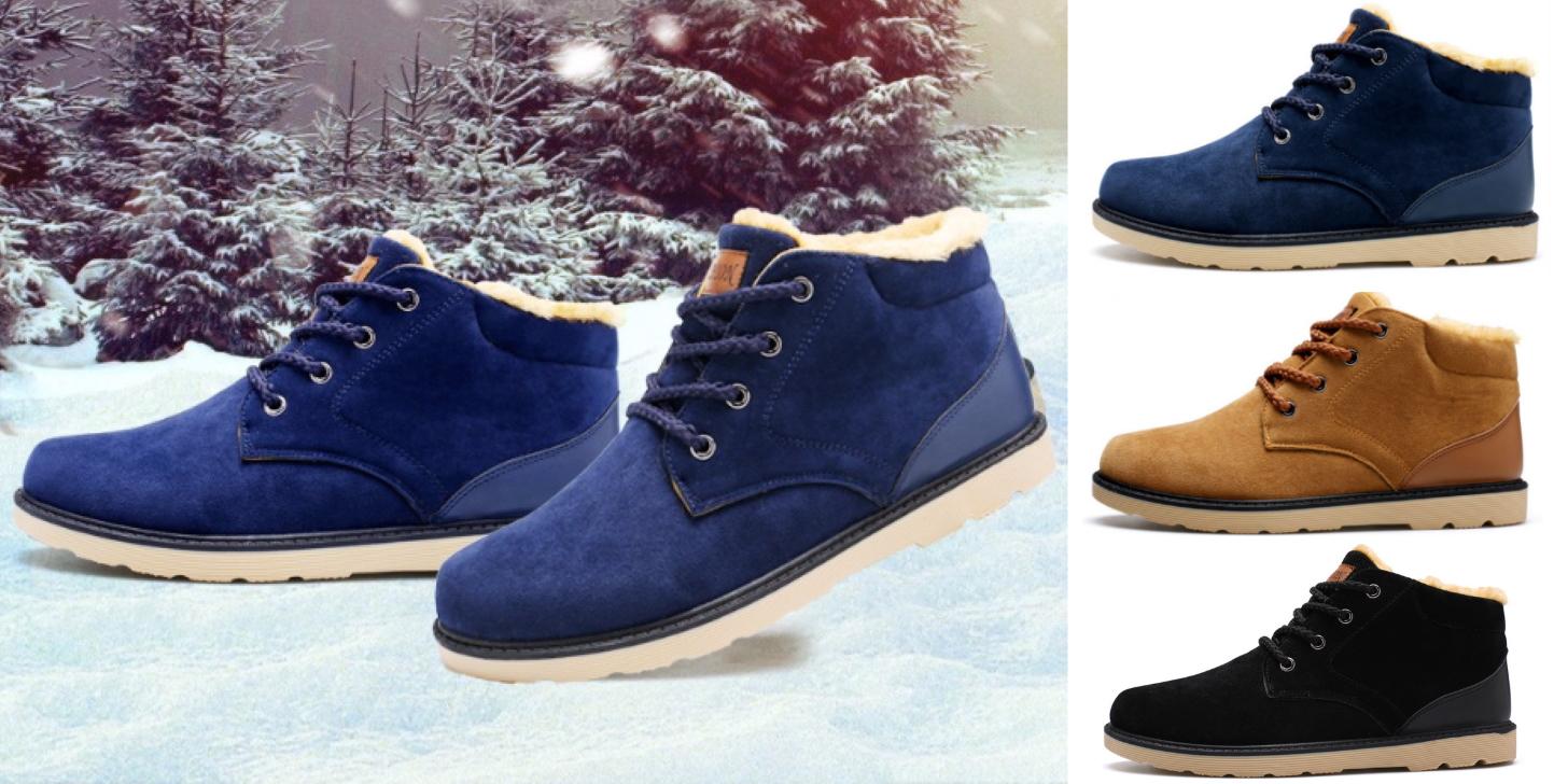 Дешеві зимові черевики чоловічі - міська модель від BIMUDUIYU