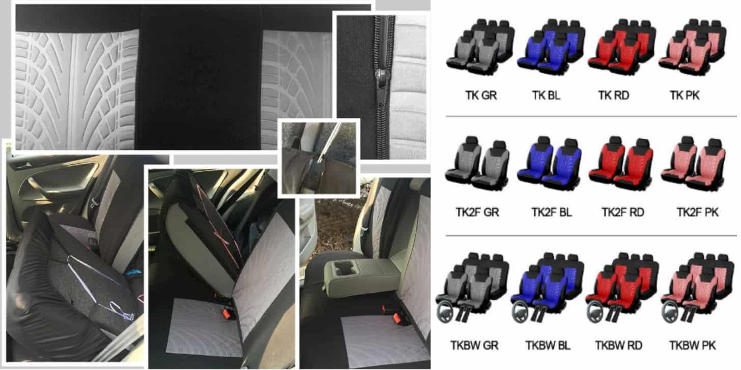 Практичні і стильні дешеві автомобільні чохли на сидіння від MISSUDESIGN