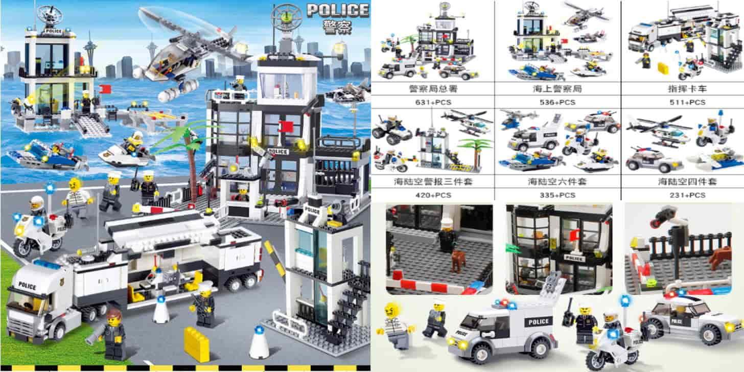 Дешевий дитячий конструктор типу лего - поліцейський відділок від Lis