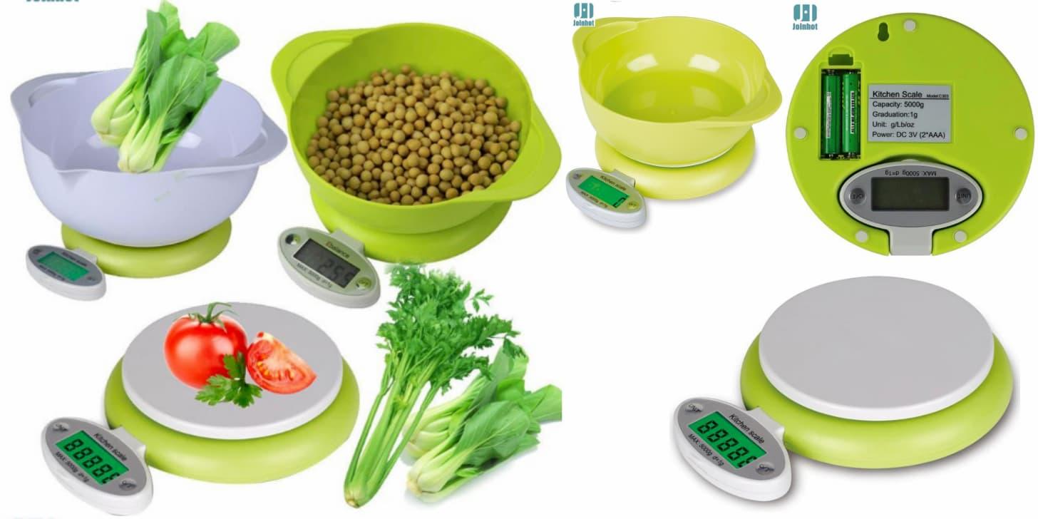 Зелені дешеві кухонні ваги від JOINHOT